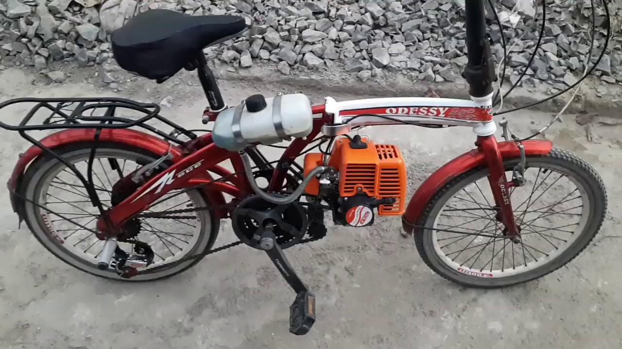 Sepeda Mesin Potong Rumput 30cc Youtube