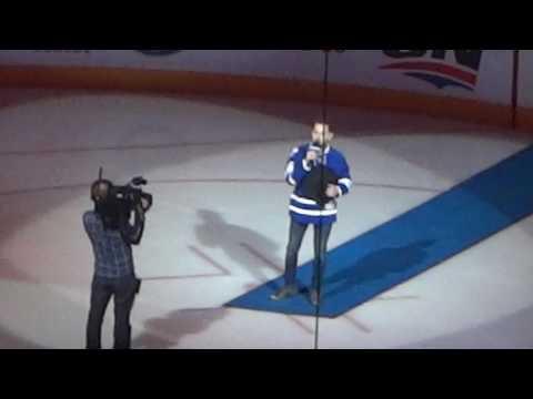 """Brett Kissel Singing """"O Canada"""""""