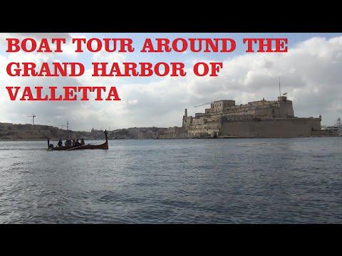 Boat tour around the Grand Harbor of Valletta (Malta)
