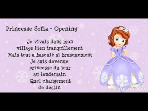 Princesse Sofia Opening Lyrics Youtube