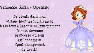 Princesse Sofia - Opening (Lyrics)