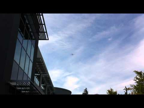 Space Shuttle passed by Cupertino campus.