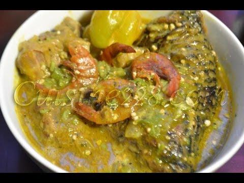 Sauce de gombo - okra Soup - (cuisine togolaise, ivoirienne, senegalaise)