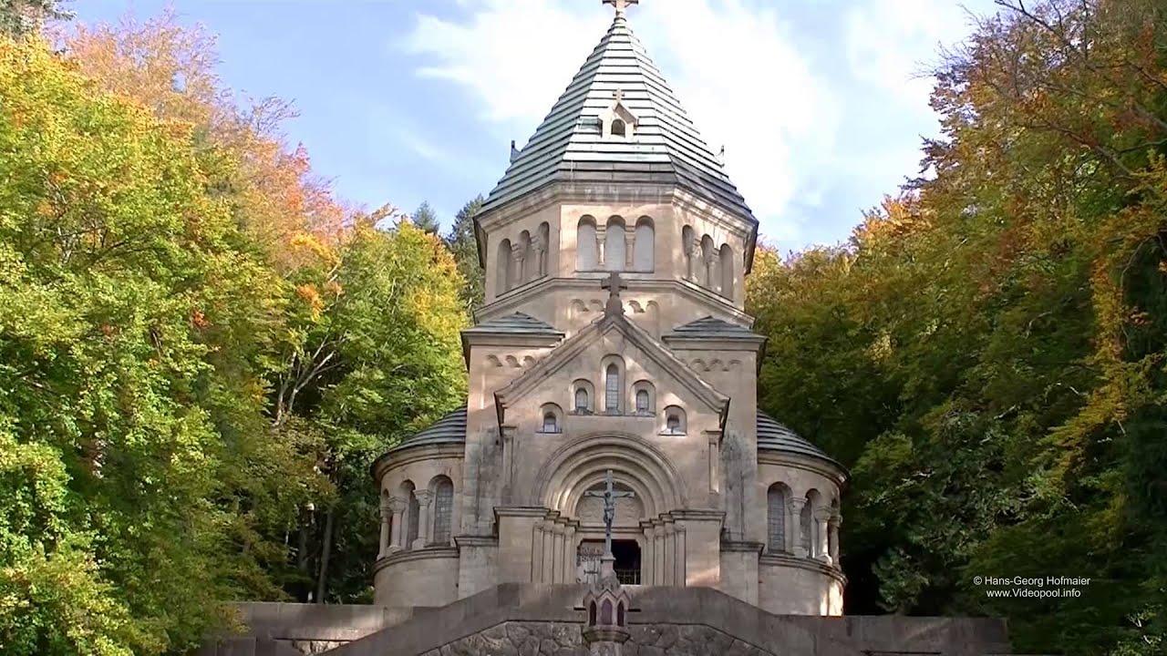 Berg Am Starnberger See votivkapelle mit kreuz im see für könig ludwig ii in berg am