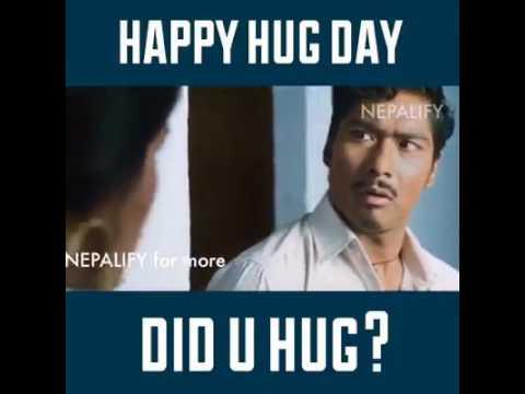 Hug Day Special Saugat Malla Nepali Movie Comedy Scene Youtube