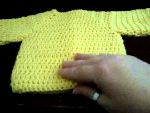 Crochet Baby Cardigan Sweater Youtube
