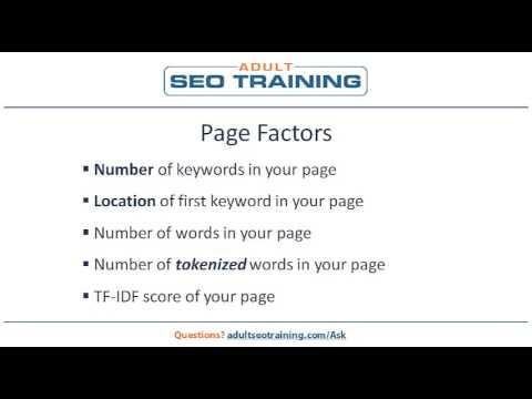 Adult SEO Ranking Factors