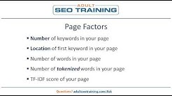 Adult SEO Ranking Factors