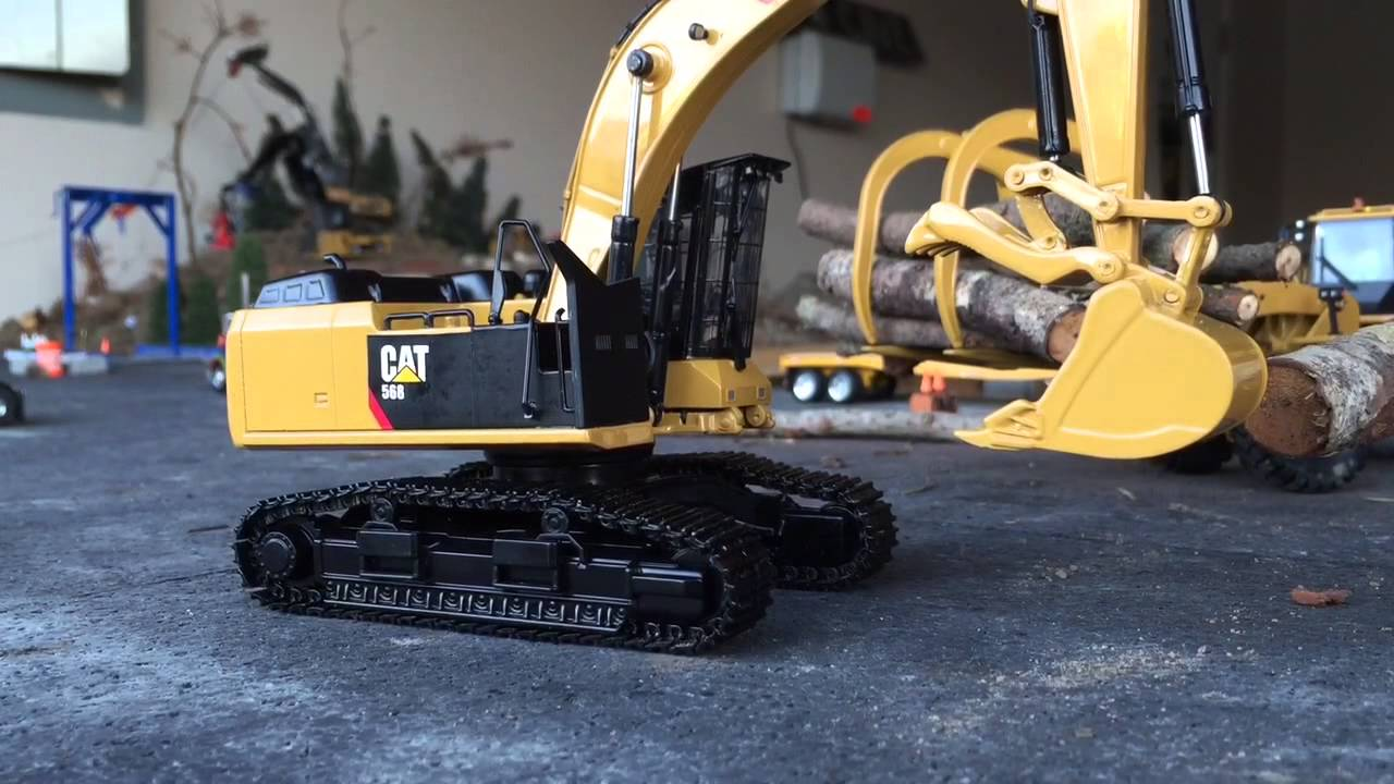 tonkin cat 568 road builder excavator youtube