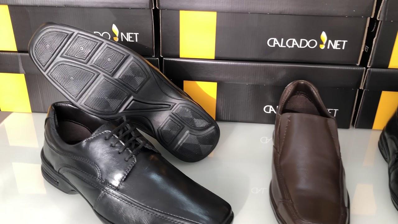 1b9b7ec42 Kit 2 Sapatos Sociais Masculinos CalçadoNet Conforto em Couro Legítimo 7000  e 11000 + 3 Meias - Masculino, Social, Kit Social- na Calçado Net