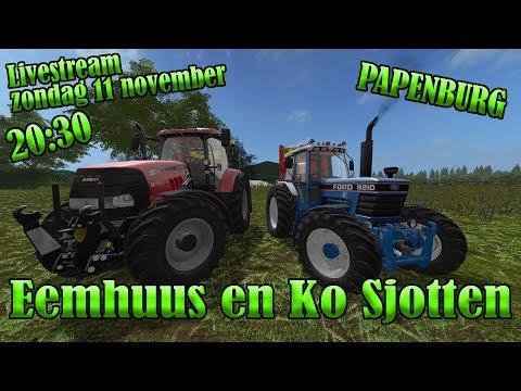 Farming Simulator 2017 LIVESTREAM PAPENBURG In't GRASSSSS Eemhuus en Ko Sjotten! thumbnail