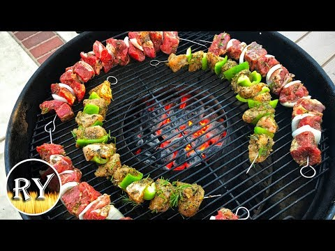 How to cook chicken kebabs on weber q