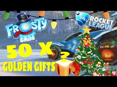 OPENING 50 NEW ROCKET LEAGUE GOLDEN GIFTS (AMAZING PULLS) thumbnail