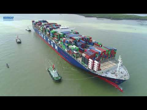 Assisting the Largest Container Ship in the World  Marco Polo Berthing at CMIT port (Vietnam)