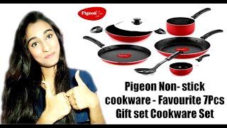 Pigeon Non-stick Cookware - Favourite 7Pcs Gift Set Cookware Set Review by Meghu Talksss