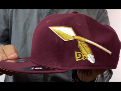 74c036ae3 Redskins  THROWBACK SPEARS SNAPBACK  Maroon Hat by New Era - YouTube