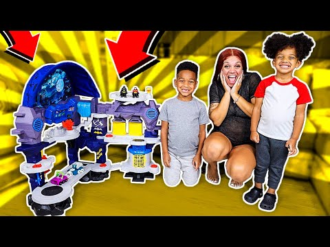 Mommy Surprised DJ & Kyrie With The Biggest Toy Ever! Batman Super Surround Batcave Playset!