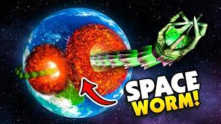 SPACE WORM EATS A HOLE THROUGH EARTH  Solar Smash