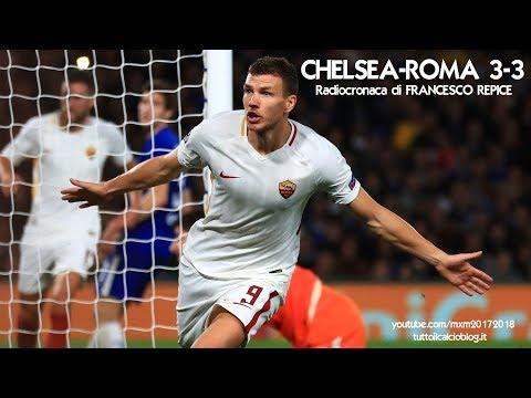 Chelsea-Roma 3-3 - Tutta la radiocronaca di Francesco Repice (18/10/2017) da Rai Radio 1