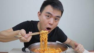 36 8买的韩国部队火锅,原来把芝士放进火锅里面煮着吃这么爽