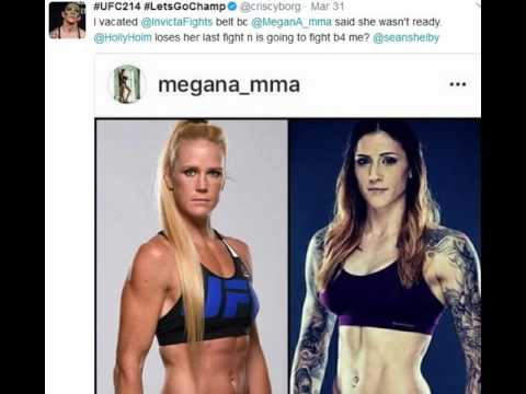 Cris Cyborg Ethers Megan Anderson Holly Holm And Sean Shelby