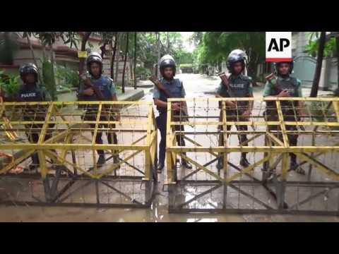 Police, Japanese ambassador at Dhaka attack site