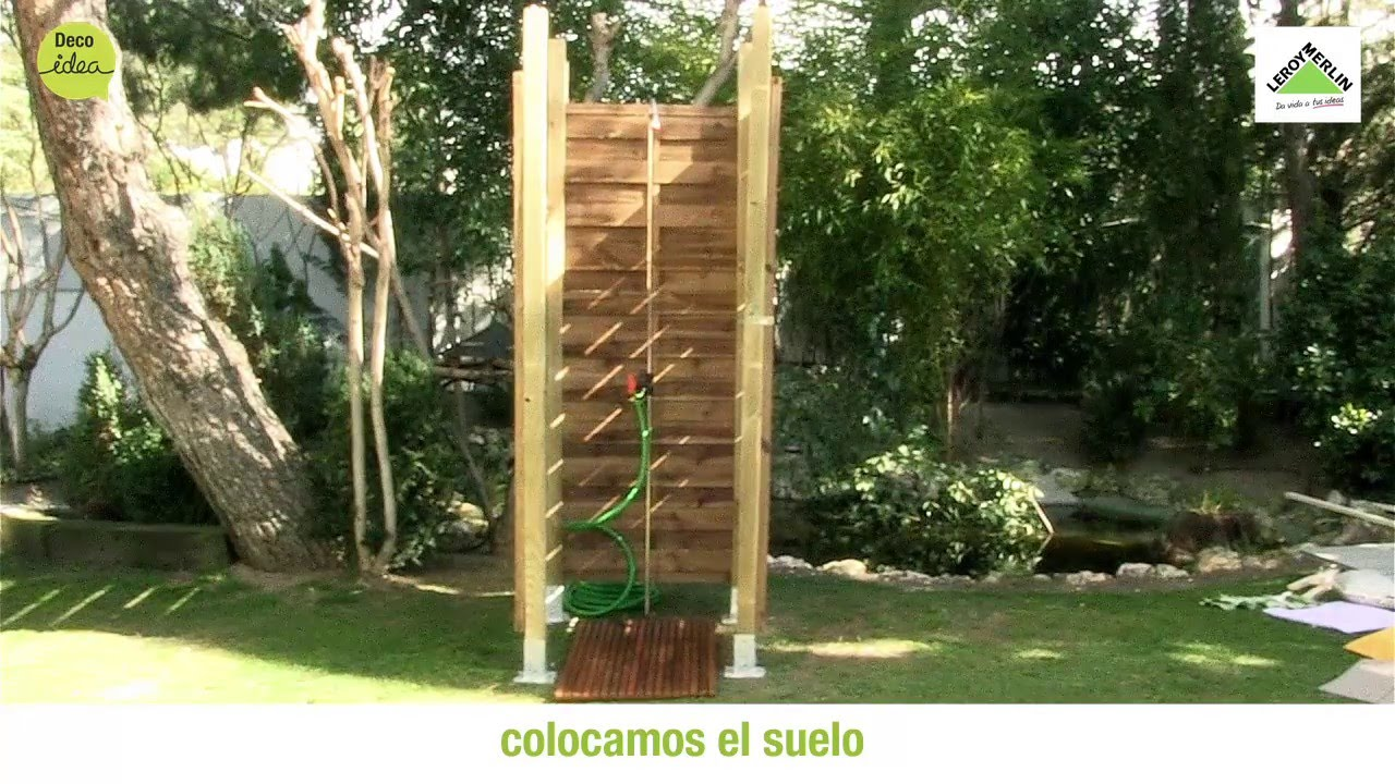 Monta una ducha de exterior leroy merlin youtube for Ducha jardin leroy merlin