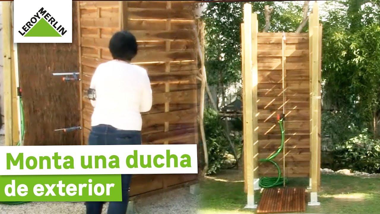 Monta una ducha de exterior leroy merlin youtube - Ducha para jardin ...