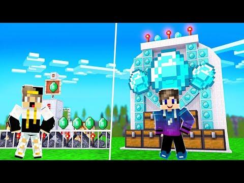 فلم ماين كرافت : منزل الاميرالد ضد منزلي الدايموند المتنمر😱 (نهاية مضحكة😂)💔!|MineCraft Movie