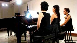 "Eugenie Rocherolle ""jambalaya"" For 2 Pianos 8 Hands  - Piano Ensemble ""golden Fingers"""