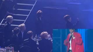 170119 bts reaction to silento seoul music awards