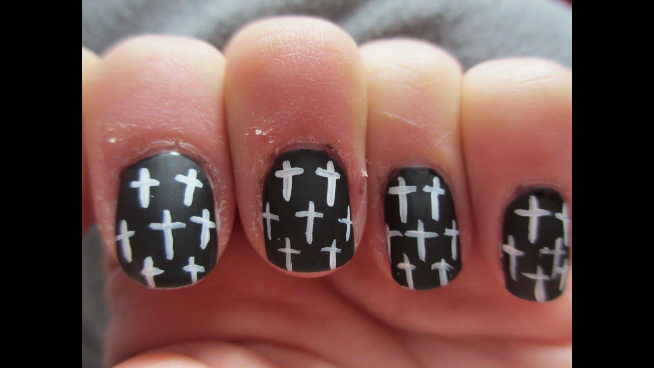 easy cross nail art tutorial