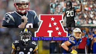 Jaguars Ready To Take Over The AFC Conference??? Top 5 AFC Power Rankings!!!