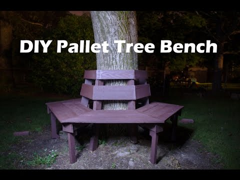 DIY Pallet Bench-100% Pallet Wood Bench~Banca de Madera de Palets