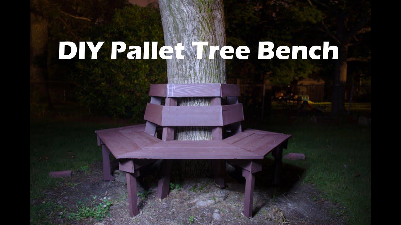Faire Un Banc En Palette banc de bricolage arbre hexagonal de palettes en bois - bois