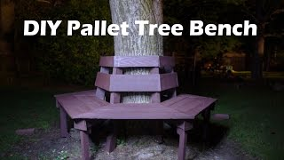 DIY Giveaways & Tutorials-DIY Pallet Bench-100% Pallet Wood Bench~Banca de Madera de Palets