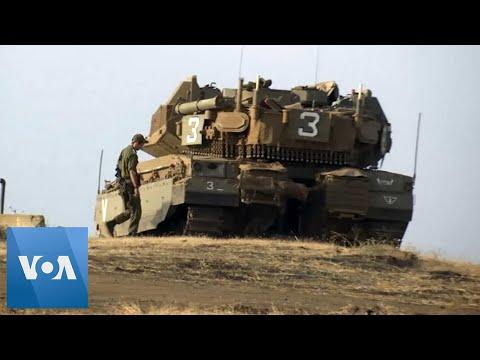 Israeli Forces Patrol Lebanon Border