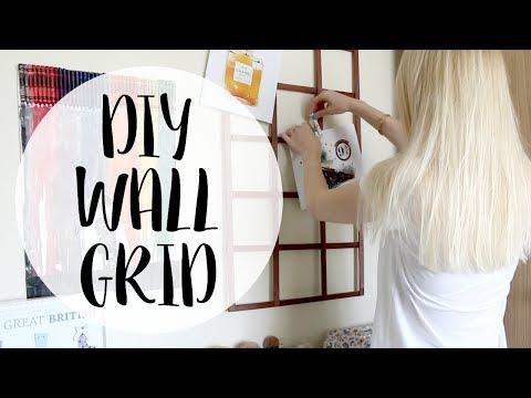 DIY Wall Grid | Easy Room Wall Decor