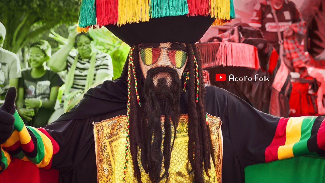 Chinelos Rasta en el  Carnaval de Jiutepec 2020