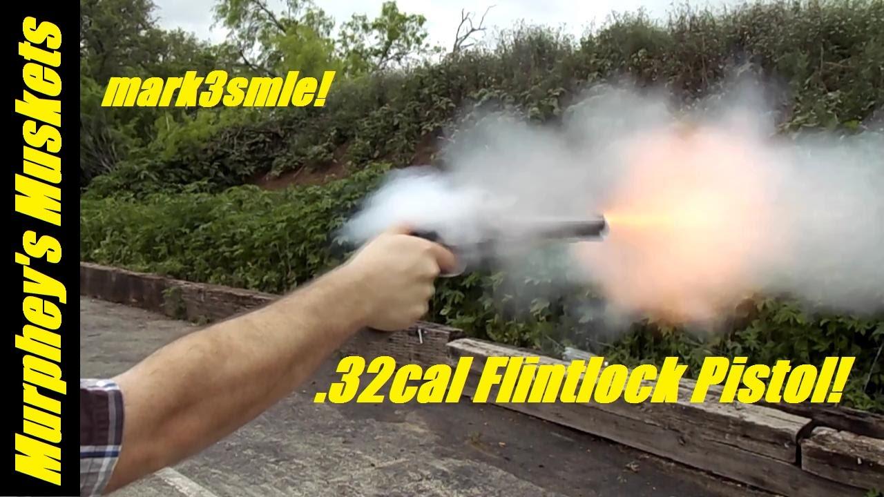 32cal Flintlock Pistol Handmade Mark3Smle