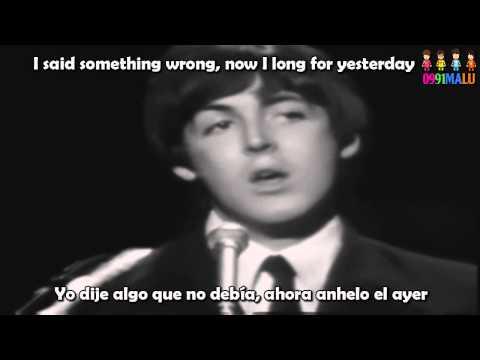 Yesterday-The Beatles(subtitulado en ingles y español)[with lyrics]