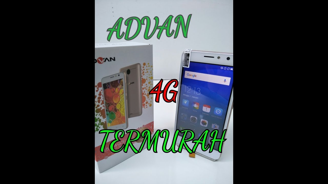 Hp 4g Termurah Advan S5e 4gs Unboxing 5 Youtube Harga