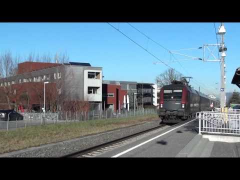 Liechtenstein: OBB RJ160 Wien Hbf - Zurich HB passes Schaan-Vaduz 08/12/16