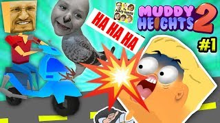FGTEEV Poops on People! TOILET PAPER EMERGENCY in Muddy Heights 2 w/ Duddy & Chase (Food + Poo =Eww)