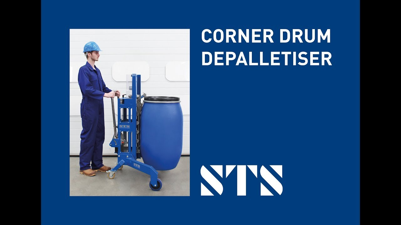 Corner Drum Lifting Trolley (Model: DTP05) Drum Depalletiser