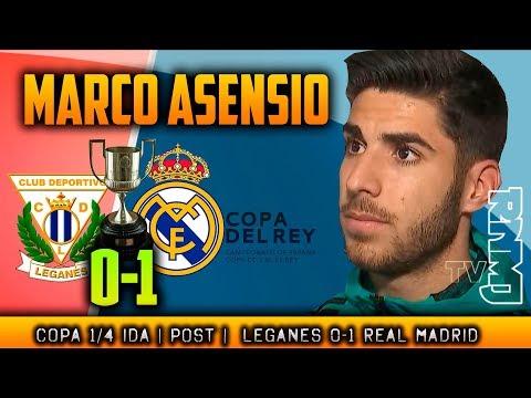 Declaraciones de MARCO ASENSIO post Leganés 0-1 Real Madrid (18/01/2018) | Copa del Rey 1/4 Ida