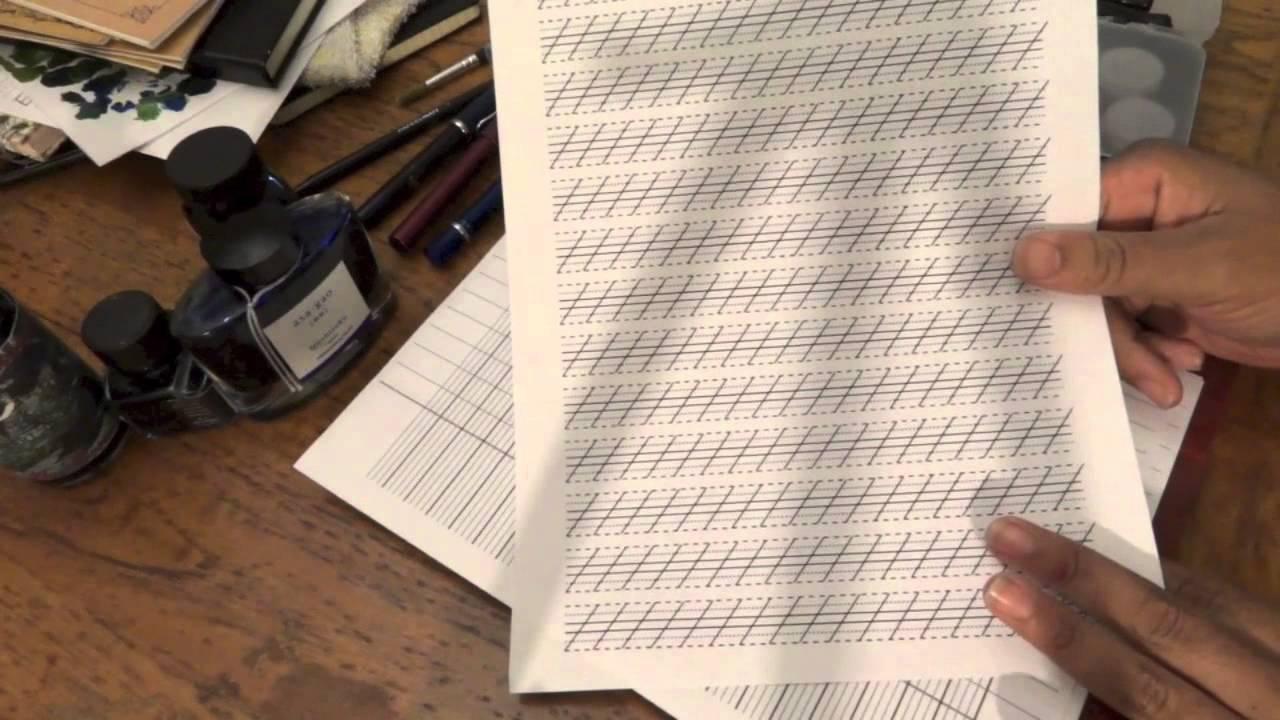 worksheet Spencerian Penmanship Worksheets learning spencerian handwriting my tools and resources youtube