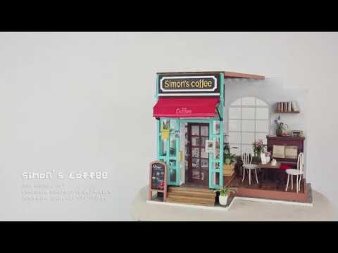 Robotime dollhouse kit - Simon's coffee - DG109