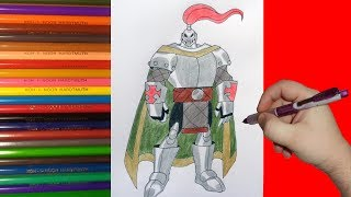 как нарисовать рыцаря,how to draw a knight,cmo dibujar un caballo,come disegnare un cavaliere