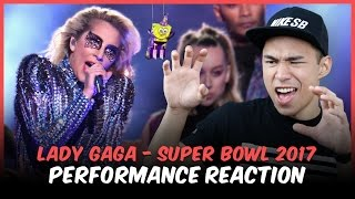 Gambar cover LADY GAGA - SUPER BOWL 2017 HALFTIME SHOW PERFORMANCE REACTION // Reactions With Red Guy